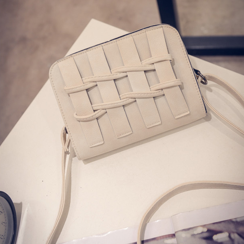 White color of Flower Butterfly cute women's PU Leather Shoulder bag