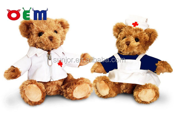custom of plush nurse bear toy,custom plush toy