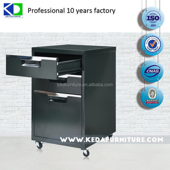 office mobile pedestal, steel office furniture, file cabinet with wheel