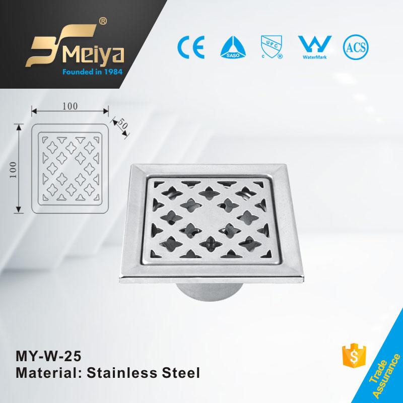 Artistic 4 Inches Stainless Steel Bathroom Sanitary Floor Drain Made in Factory