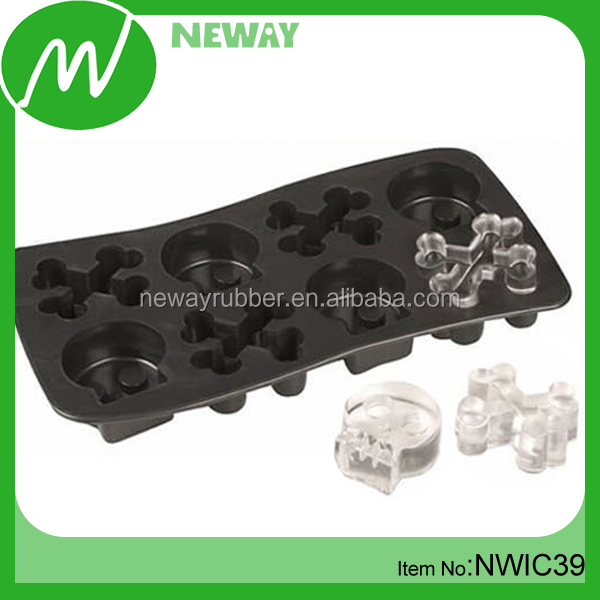 American Food Grade Skull Design Silicone Ice Tray