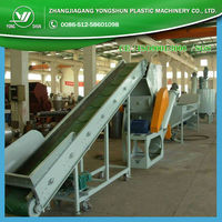 Recycling and washing machinery for waste plastic film