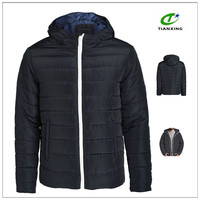 2015 waterproof hooded padded shiny mens nylon jacket for winter
