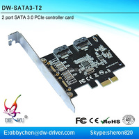 PCI express to 2 x SATA 3.0 Expansion Controller card pci express connectors pcie riser card