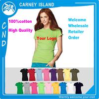 Free Shipping printing custom your own logo cotton lady t-shirt printing women t shirt