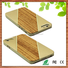 top sale 2015 cell phone case cover wood for iphone 6 6s, wholesale wood aluminum metal bumper case for iphone 6s