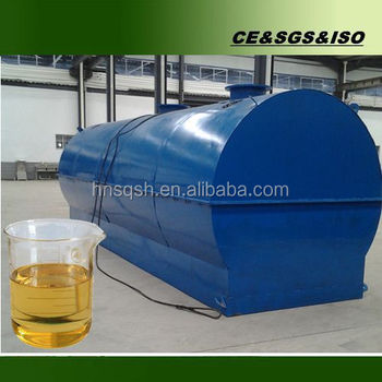 Engineers oversea waste engine oil recycling machine
