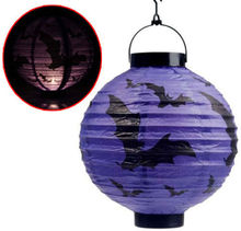 12 Inch LED Lighted Chinese Paper Lanterns for Halloween Decoration