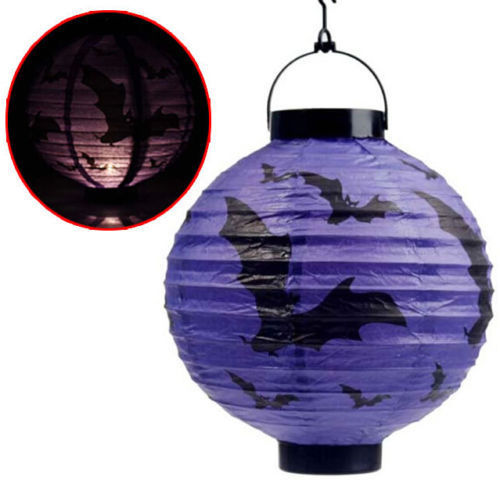 Halloween Lighted LED Paper Lantern Decoration 12""