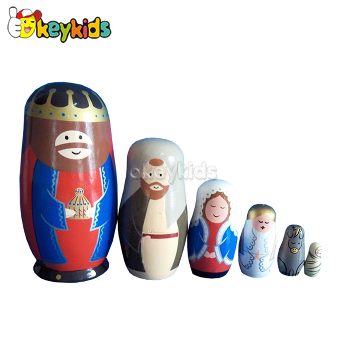 wholesale wooden russian nesting doll, cuite wooden russian nesting doll, high quality wooden russian nesting doll W06D037