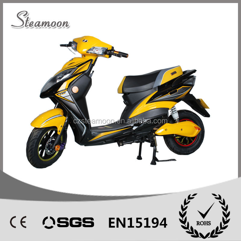 2016 New Design Yellow 60V20AH Battery Powerful Electric Scooter Electric Motorcycle 1000W