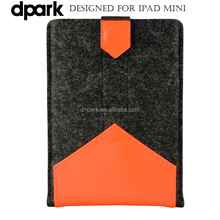 Wholesale Handmade Leather Sleeve for iPad Mini Tablet Cases and Sleeves Factory