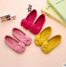 Children flat shoes casual design kids lovely bowknot fashion cute girl funny shoes