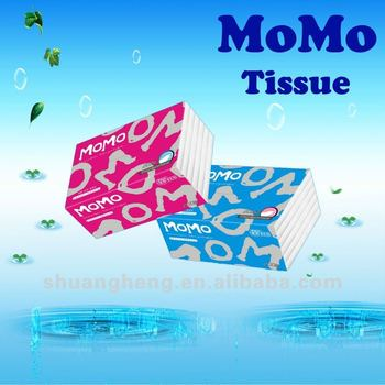 Super soft white facial tissue (100% virgin pulp)