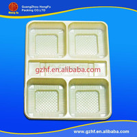 Restaurant plastic food blister blister packaging container with 5 compartments