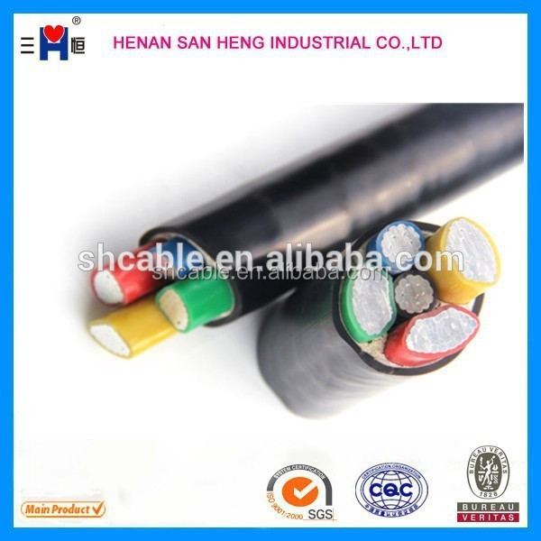 PVC insulated and sheathed CU/AL power cable alibaba china wire cable electric power cable