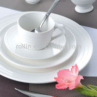 healthy special double line series porcelain dinnerware for hotel and restaurant