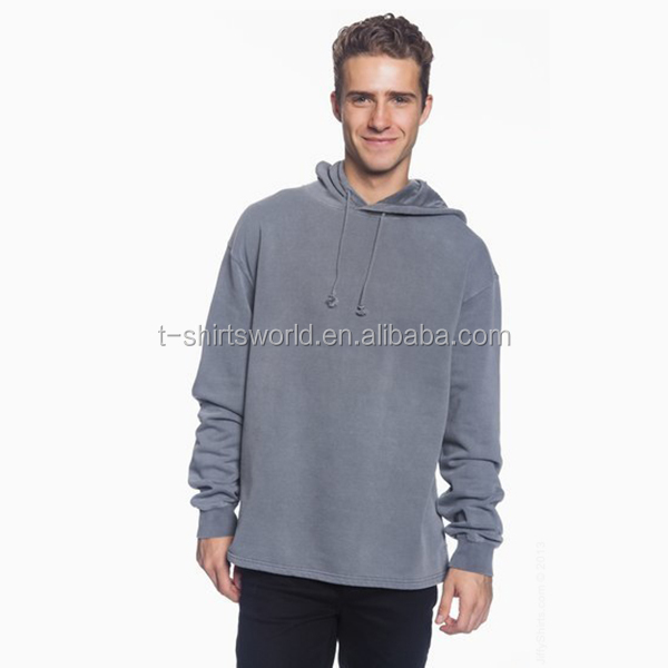 Good quality cotton plain tall hoodies wholesale