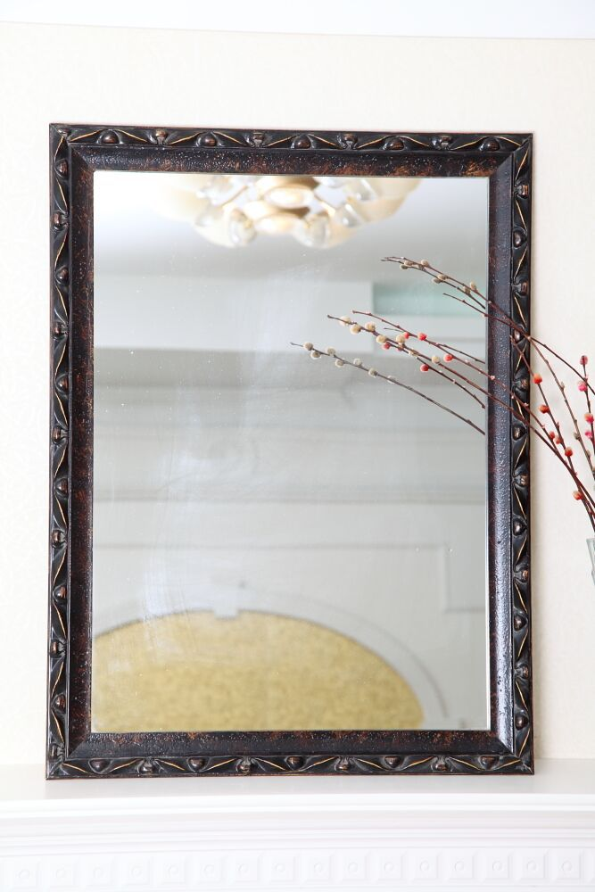 Large Customized White Framed MDF Wall Bathroom Mirror