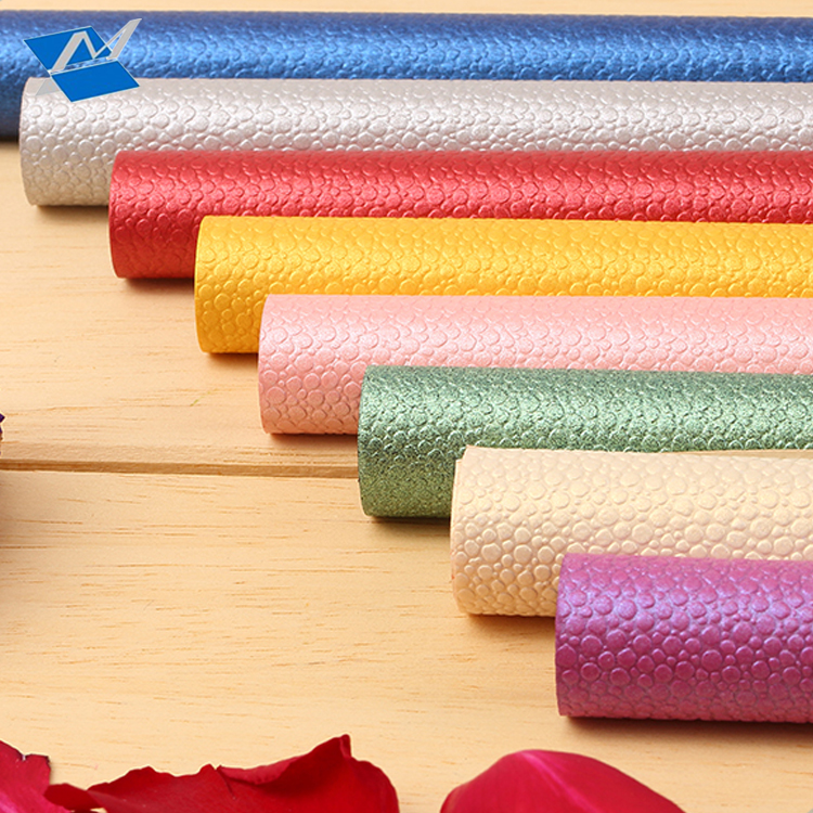 XM-L3 Factory direct sale specialty paper colorful leatherette paper with Lizards grain made use for jewelry box