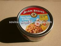SOVINA- Ayam Brand Tuna Flakes in Water Light 185g