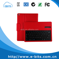 Red/pink/white/black color leather case bluetooth keyboard for ipad pro 12.9