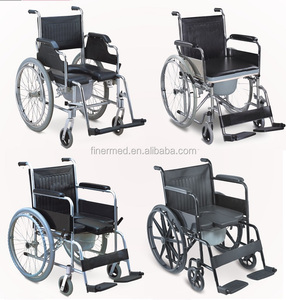 Multifunctional Transport Shower Commode Wheel Chair