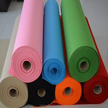 factory offer 100% polyester felt colorful needled felt fabric 1mm thikcness