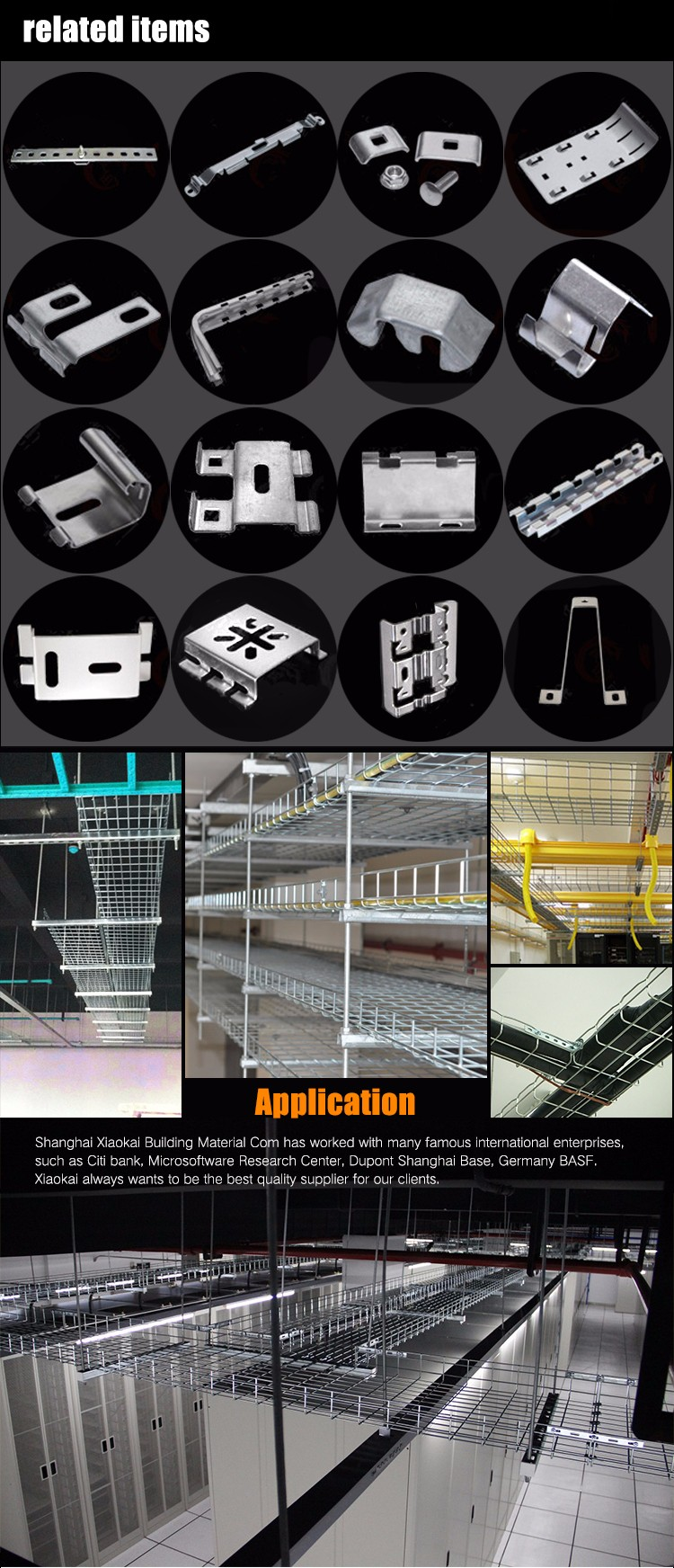 Indoor Hot Dipped Galvanized Wire Mesh Cable Tray Malaysia