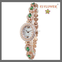 FS FLOWER - Nice Jewelry Bracelet Slim Rhinestone Stone Quartz Watch
