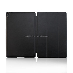 smart awake leather fold tablet case for galaxy nexus