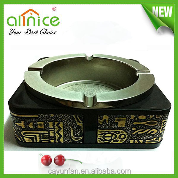 Antique Metal Alloy Egypt Square Ashtray Promotional Items