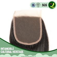 Factory Wholesale price 100% Peruvian Natural Human Hair Lace Closure 18inch Black Body Wave 4x4 inch in large stocks
