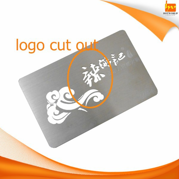 Black Golden Stainless Steel Logo Print Magnetic Stripe Barcode Emboss Metal Business Card