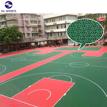 Synthetic Badminton and Basketball Court Non slip Outdoor Flooring Tile Cost