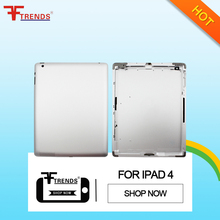 New 100% original 3g Wifi Version mobile repair for ipad 4 back cover housing replacement 4 with Wholesale Best Quality