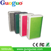Guouo high qualtiy leather portable 5200mAh wallet mobile power bank for smartphones