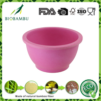 Top selling products 2016 lovely creative bamboo fiber kids bowl