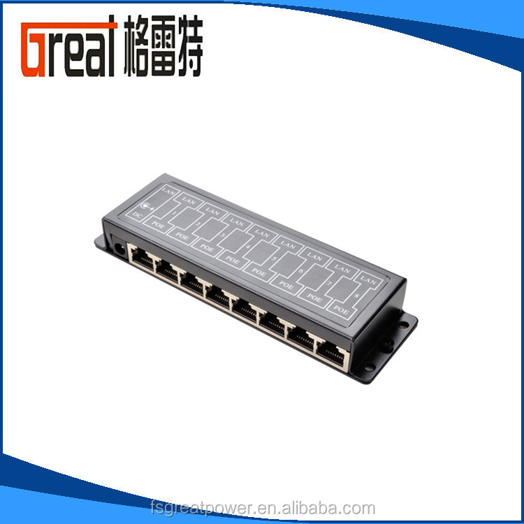 48vdc input Passive PoE Injector Splitter over Ethernet Adapter For IP Camera LAN Network