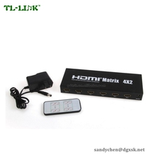 Support 3D 1.4v HDMI Splitter 4x2 4 input 2 output 4k*2k HDMI Switch