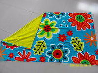 100%cotton velour yarn dyed printed beach towel double side designs beach towel