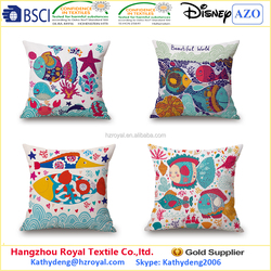 2015 cotton and linen europeanism ocean series digital printing car hold cushion pillow for leaning on sofa
