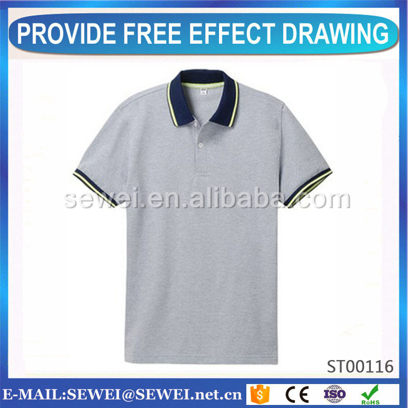 ISO9001 Certified and white polo t shirt High quality good price