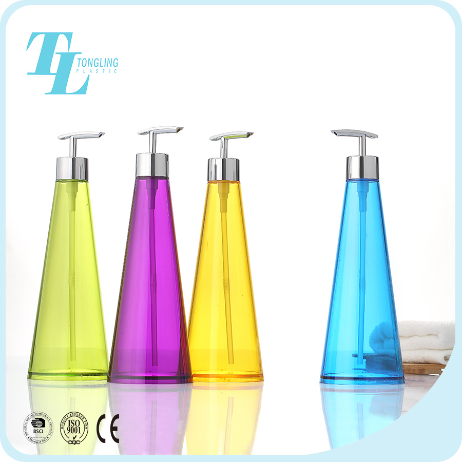 Top supplier colorful plastic shampoo bottles shower gel container