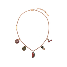 Artilady creative jewelry enamel pendant gold fruit all-match lady clavicle chain china charms necklace
