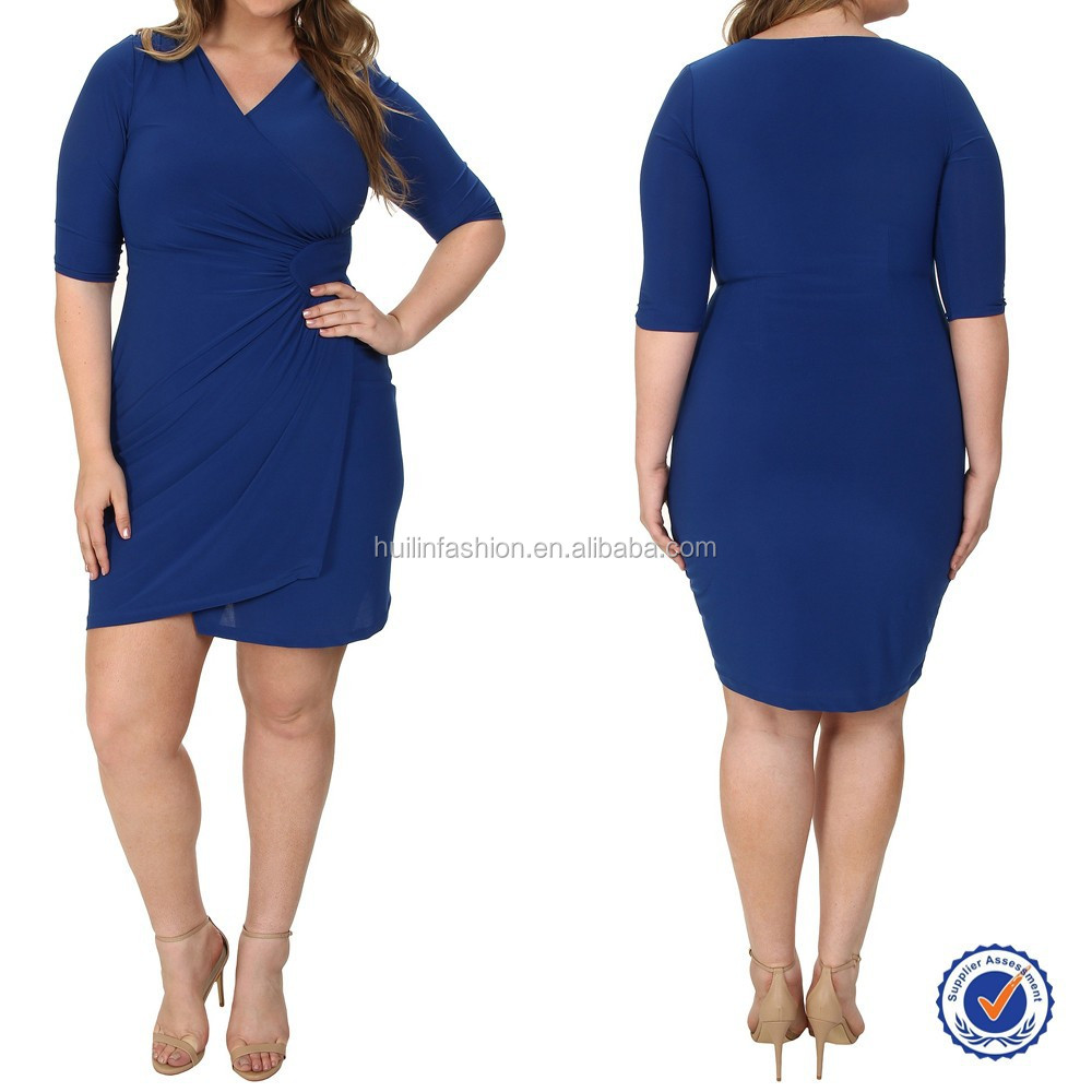 2015 Wholesale Women 4XL Plus Size Dress Plus Size Clothing