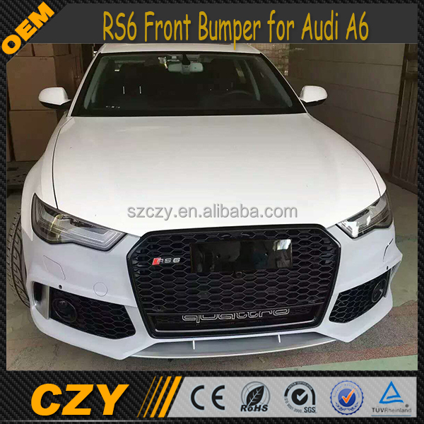 PP Auto Bodykits RS6 Front Bumper for Audi A6 2016