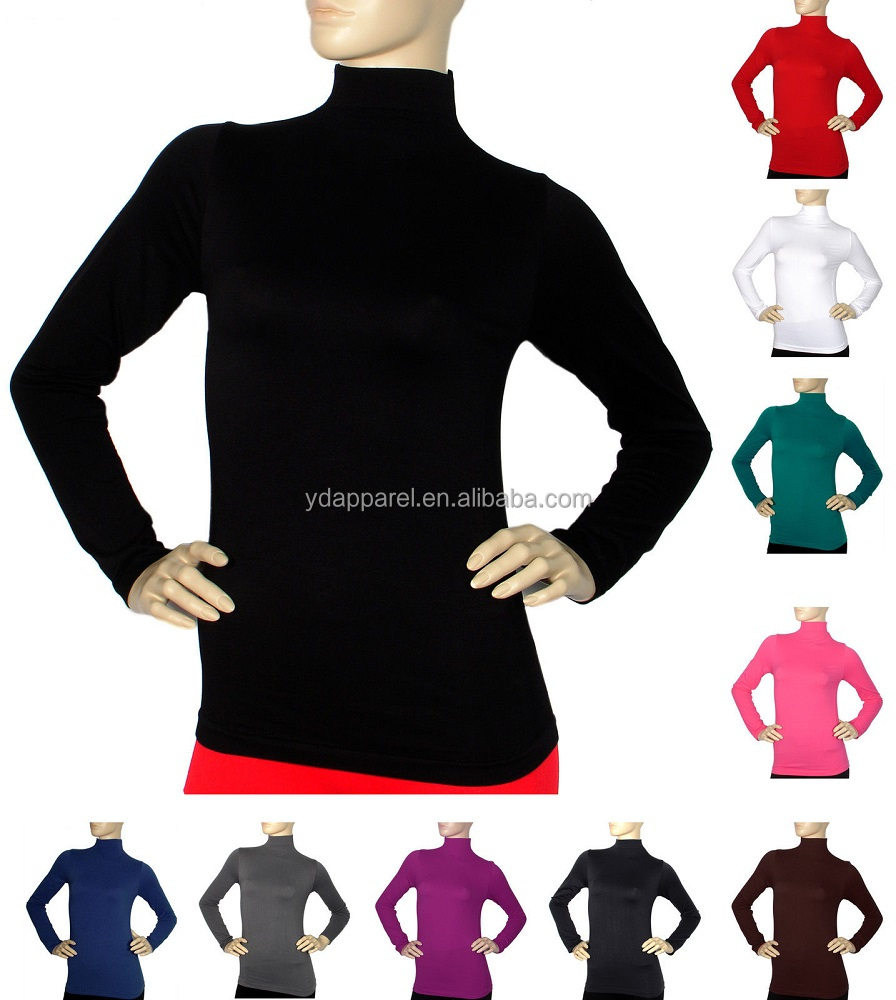 Long Sleeve Top Solid Body Round Neck T Shirt Casual Cotton -Manufacturer