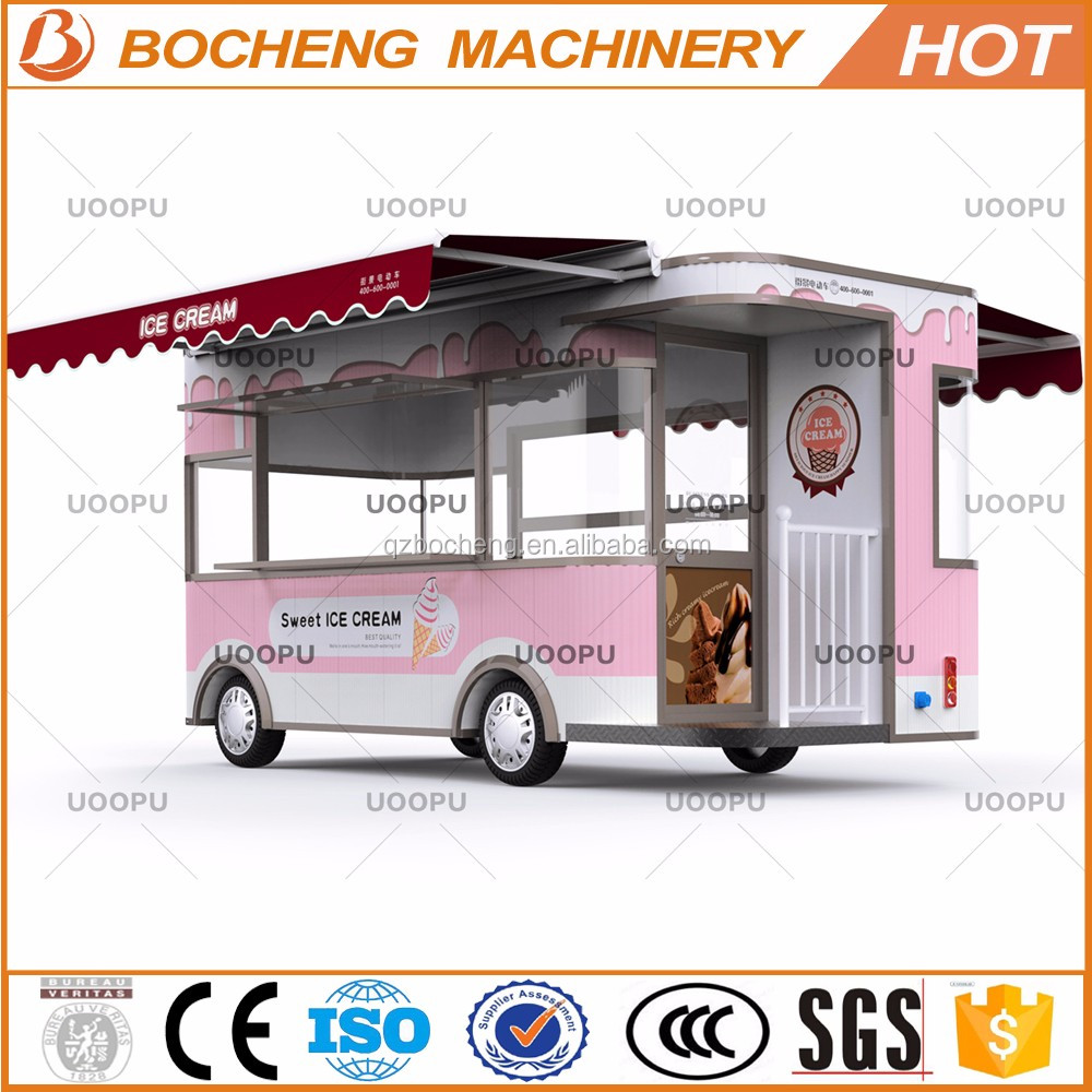 Large space full equipment ice cream drinks truck