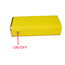 (Manufactuer) Yellow USB port power bank 5600mah, Cigarette lighter power bank, LED torch power bank